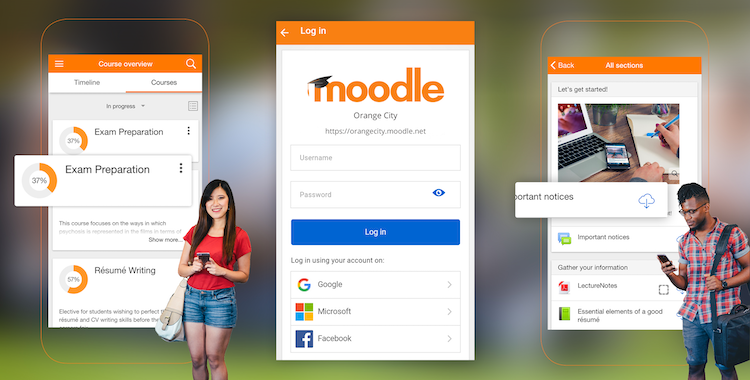 Downalod the Moodle App